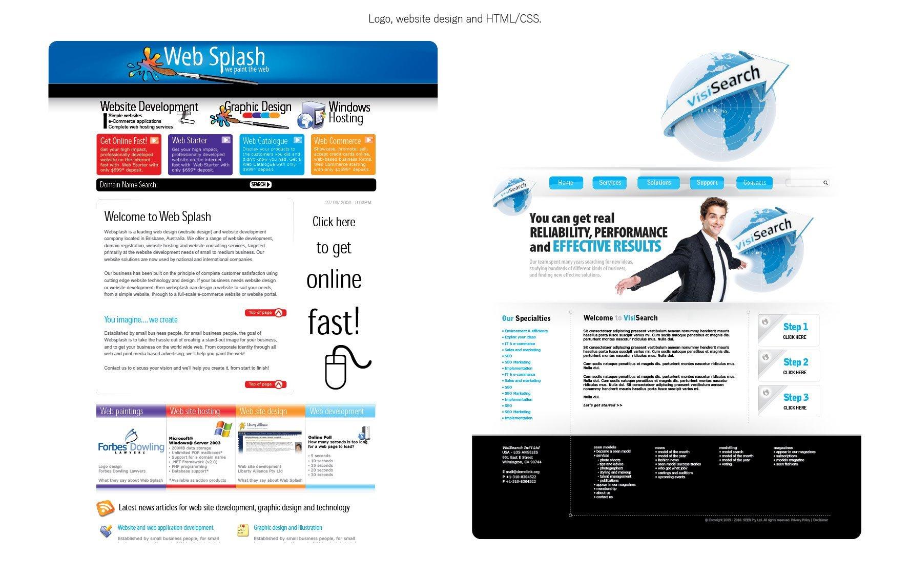 Portfolio - time at Web Splash